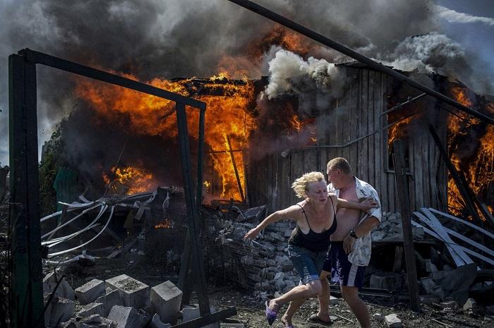 Лето в Луганске, Украина.