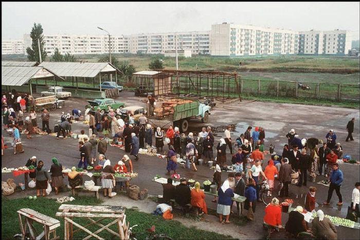 Переслав, городок в 60 км к югу от Киева, 1988 год. Фотограф Бруно Барби (Bruno Barbey).
