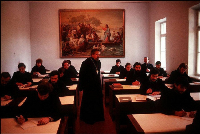 Александрийский монастырь, 1988 год. Фотограф Бруно Барби (Bruno Barbey).