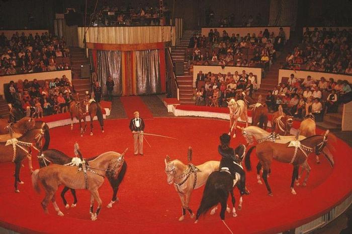 Представление в донецком цирке, 1988 год. Фотограф Бруно Барби (Bruno Barbey).