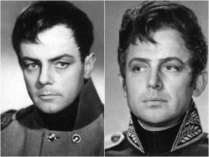 Фотопробы Кирилла Лаврова и Иннокентия Смоктуновского на роль Андрея Болконского.