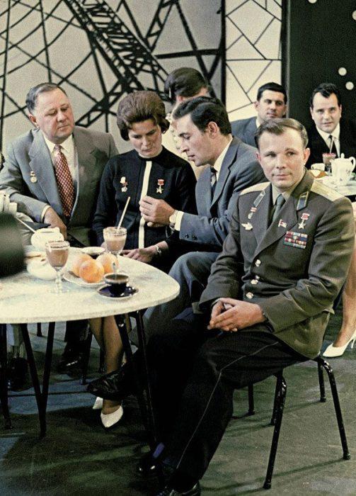 Гости Центральной студии телевидения, 1963 год.