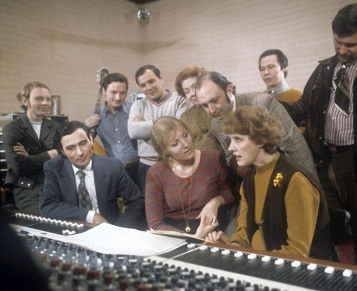 В студии грамзаписи «Мелодия», 1975 год.