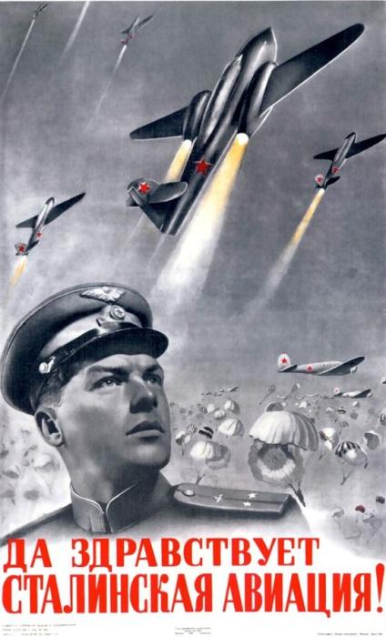 Плакат СССР «Авиация».
