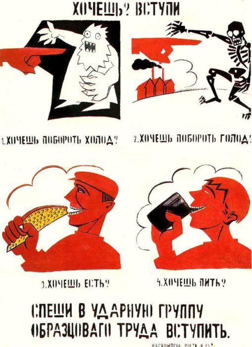 Советский агитационный плакат конца 1925 года.