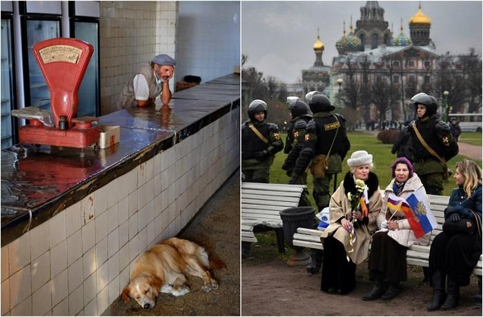 Случайные сцены из жизни российских городов.