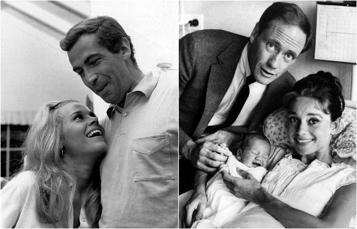 Фотографии знаменитых пар 1950-1970-х годов.