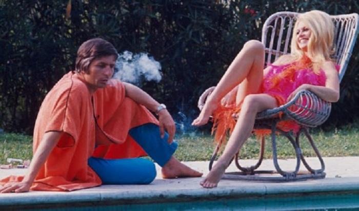 Французская кинозвезда Брижит Бардо (Brigitte Bardot) со своим мужем Гюнтером Саксом (Gunter Sachs) в Риме.