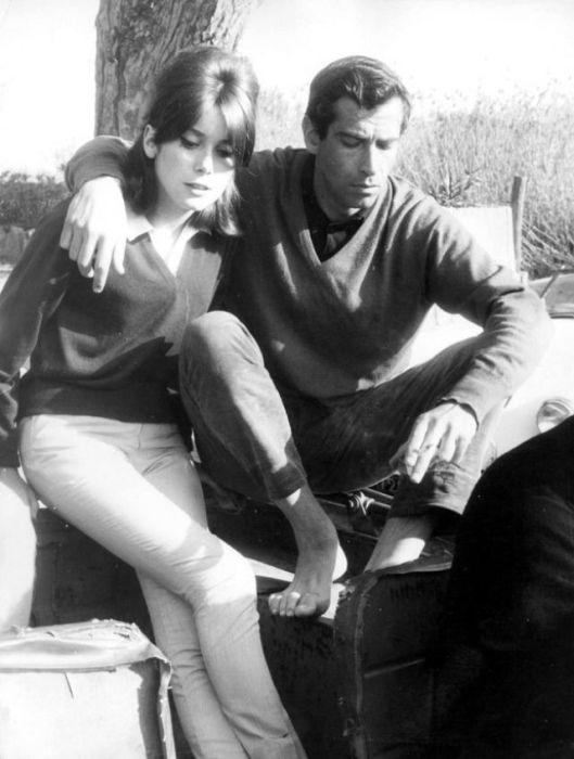 Французская киноактриса Катрин Денев (Catherine Deneuve) и ее возлюбленный – режиссер и продюсер Роже Вадим (Roger Vadim).