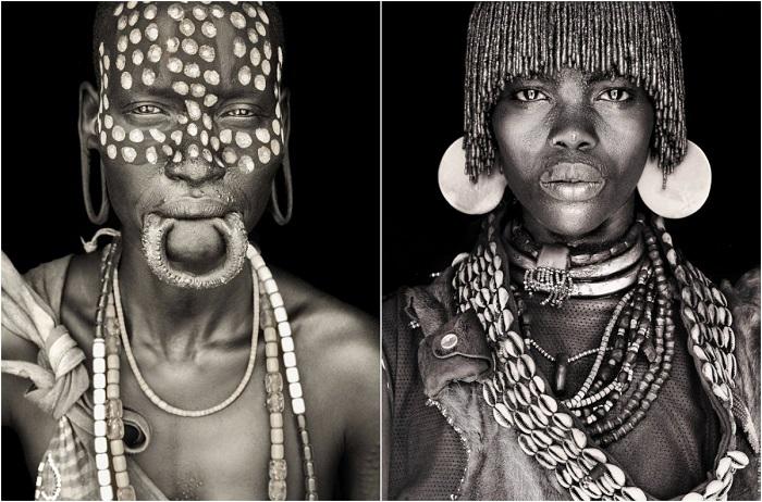 Гипнотические портреты африканских кочевников.