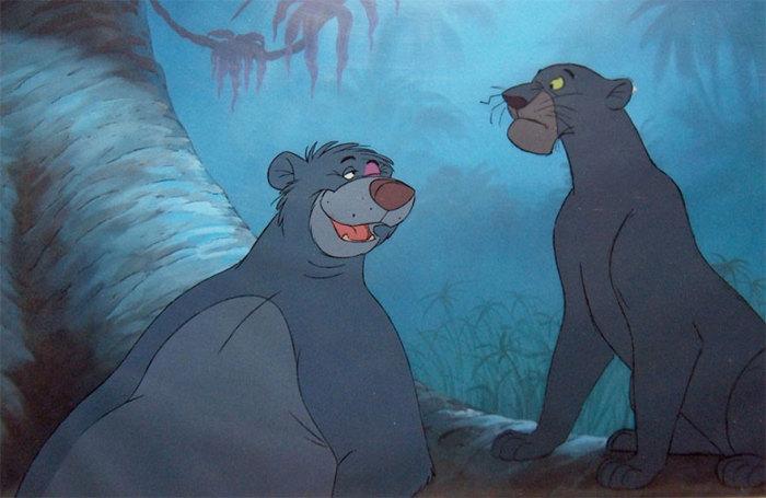 Медведь Балу и Багира.