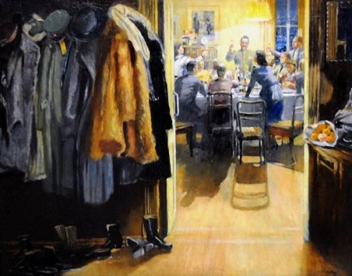 Работа советского живописца Юрия Пименова, 1949 год.