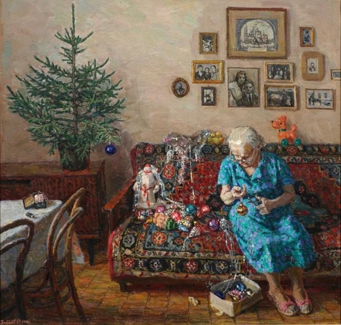 Работа талантливого художника Егора Зайцева, 1995 год.