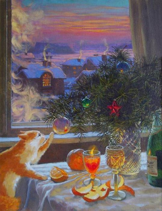 Картина талантливого продолжателя династии художников Нефтекамска - Александр Мохов, 2005 год.