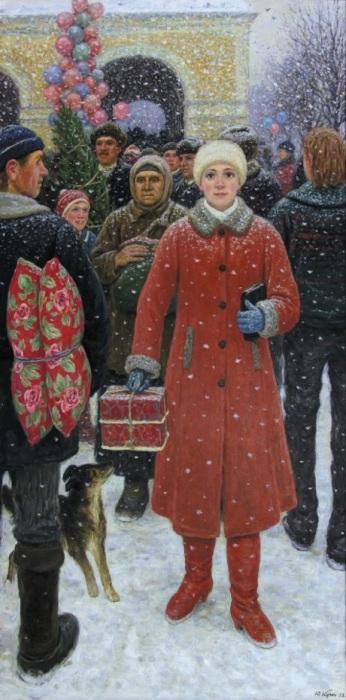 Картина советского живописца Юрия Кугача, 1988 год.