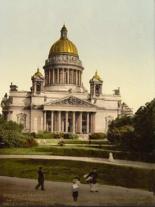Вид со стороны Александровского сада, Санкт-Петербург, начало 19-го века.