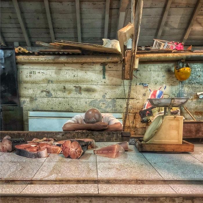 Победителем в номинации «Смарт» стал британский фотограф Никола Янг (Nicola Young) со снимком отдыхающего во время затишья после циклона «Бергитта» торговца рыбой.