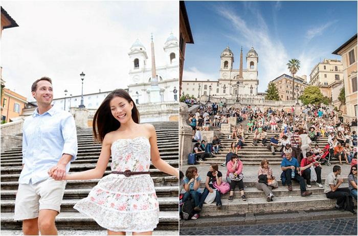 Ее называют архитектурной диковинкой, поэтому все туристы, очутившиеся в Риме, стараются успеть взглянуть на нее.