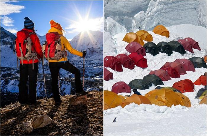 В ожидании уединения и созерцания красоты гор, сталкиваешься с большим количеством туристических групп.