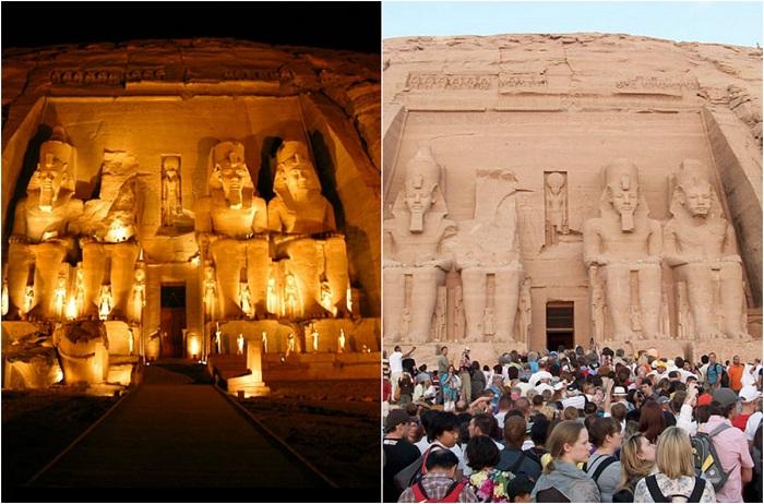 Один из самых посещаемых туристами храмов Древнего Египта.
