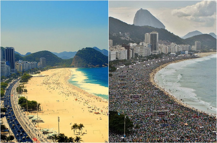 Пляжи переполнены людьми, в результате окружающая среда довольно сильно загрязнена.