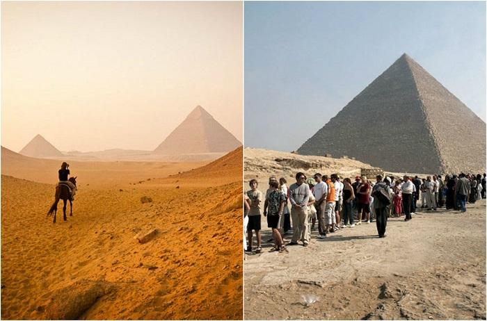 Во избежание большого скопления туристов, посещать пирамиды лучше ранним утром или ближе к вечеру.