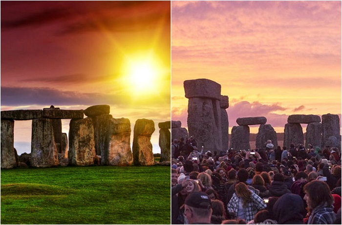В самый длинный день года(день летнего солнцестояния), собирается огромное количество людей. В остальное время, своего рода пустые будни.