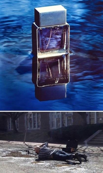 Реклама брендового парфюма.