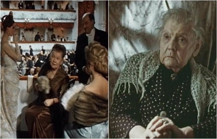 В кино снималась часто, играя эпизоды, а в фильме актрисе досталась второстепенная роль - княгиня Мягкая.
