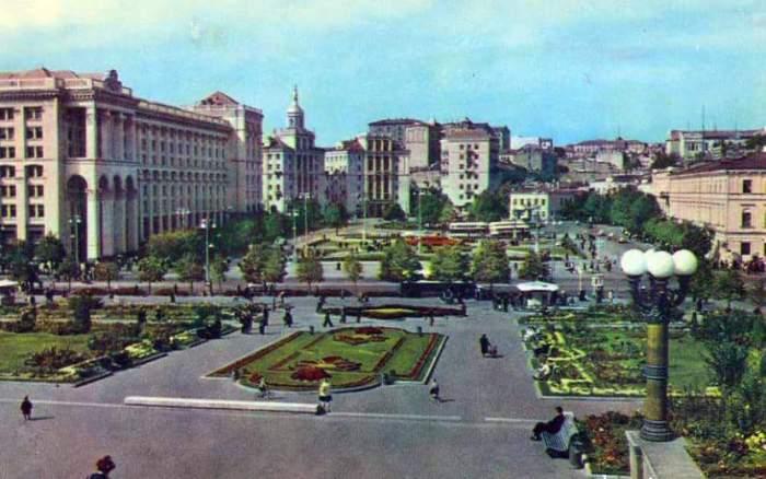 Ныне известная всем, как Площадь Независимости, 50-е годы.