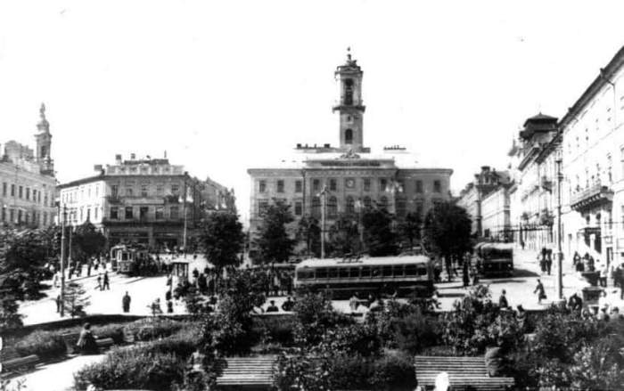 Центральная площадь, 1967 год.