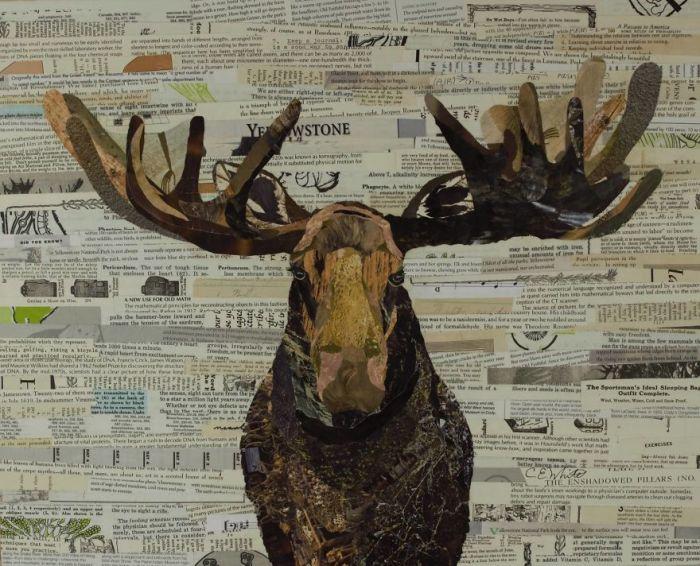 Величественный владыка леса в короне из рогов.