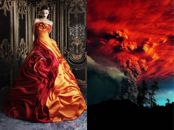 Dress, copied from nature.