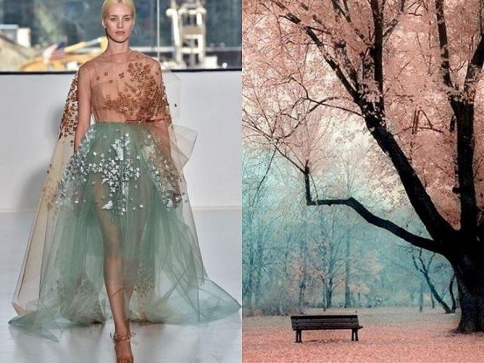 Платье, вдохновленное образом природы.