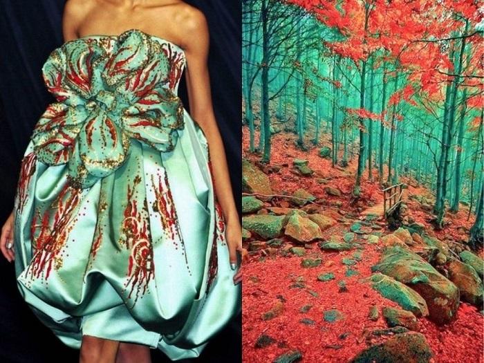 Платье, напоминающее живописный уголок Земли в Лигурии, Италия.