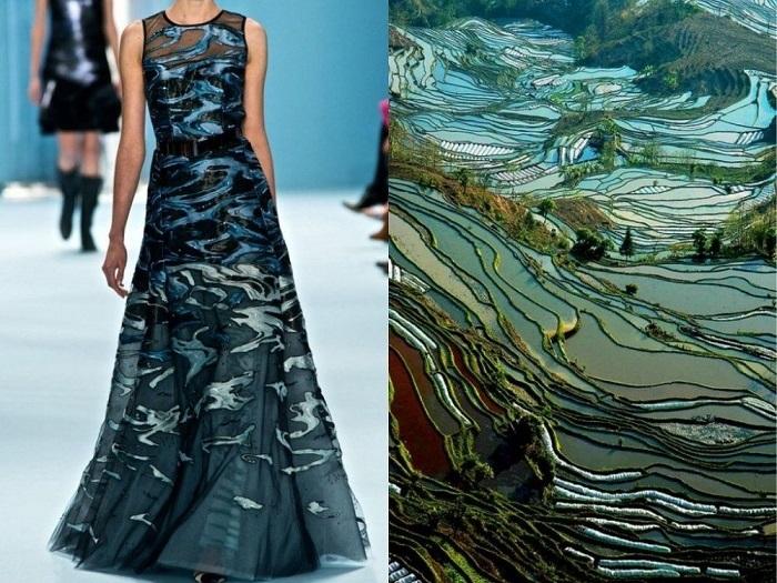 Платье, срисованное с волшебства природы.