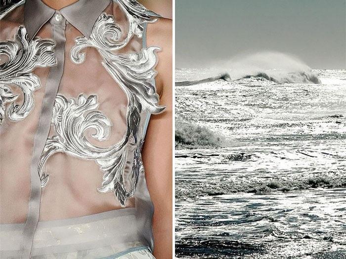 Raging ocean waves.