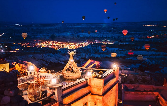 Фестиваль воздушных шаров в Каппадокии.