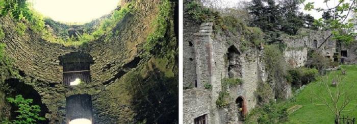 Замок получил свое название в честь реки Уск, протекающей на его территории.