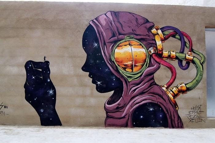 Искусство испанского студента Дэи (Deih) в Валенсии, Испания.