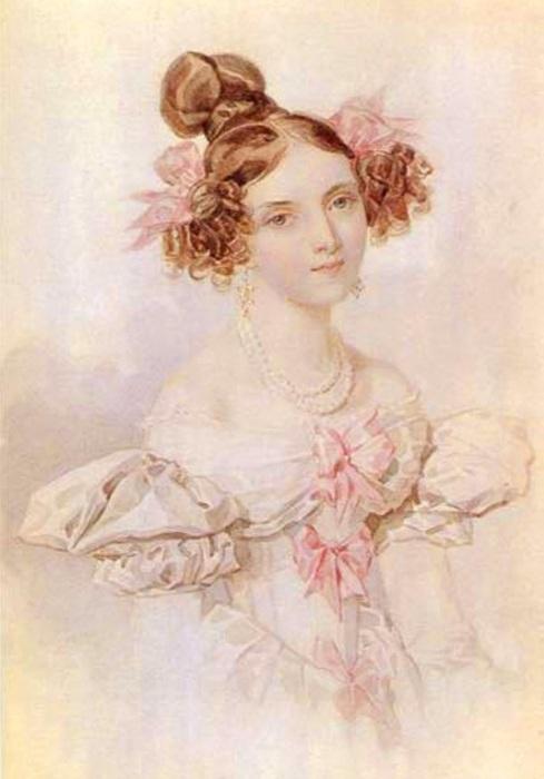 Фрейлина великой княгини Елены Павловны, одна из красивиших женщин Петербурга.
