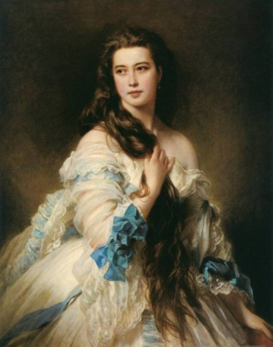 Одна из первых красавиц высшего света, покоривших в середине XIX в. Москву и Санкт-Петербург, а затем и Европу.