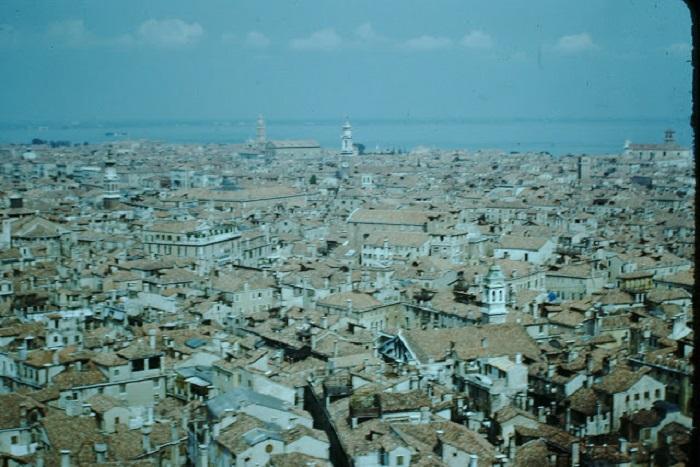 Вид с башни Сан-Марко, 1954 год.