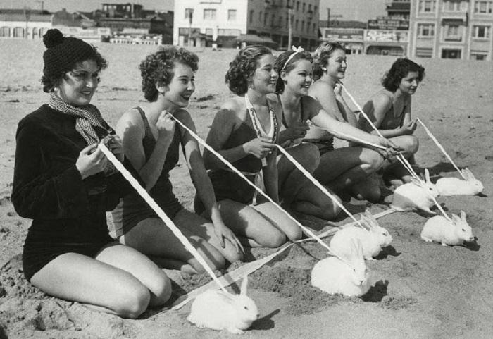 Развлечения отдыхающих на пляже.