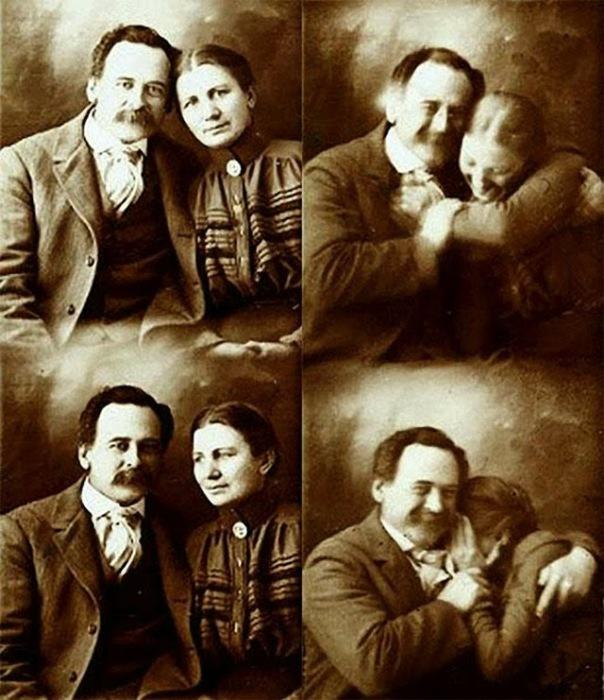 Пара позировала для семейного альбома.