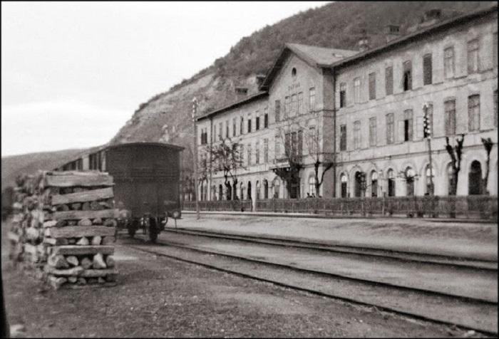 Железнодорожная станция Базяш, 1903 год.