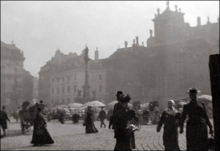 Раннее утро на центральном рынке. Вена, 1903 год.