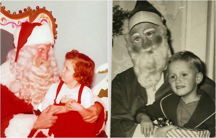 Санта Клаус идёт в гости.