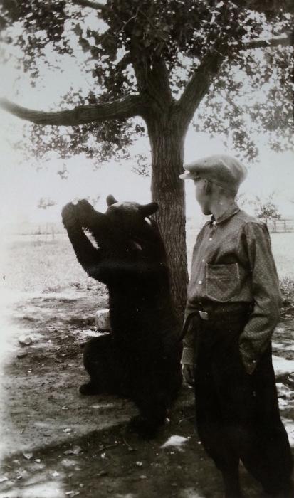 Льется музыка от игры медведя медведя на сопилке.