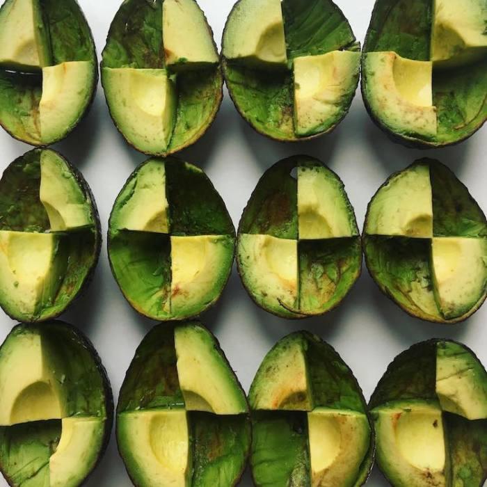 Как вам квадраты из авокадо?